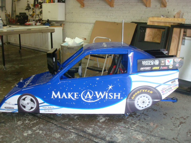 The Make A Wish Dream Racer donated by Terry Chandler